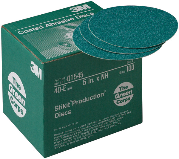 15453m 5x Nh 40e Stikit Discgreen Corps Stikitproduction Disc100 Discs Per Box3M 5X NH 40E STIKIT DISC