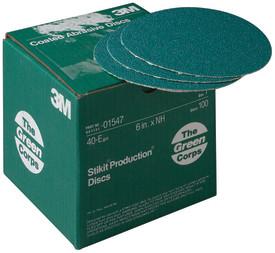 15473m 6x Nh 40e Stikit Discgreen Corps Stikitproduction Disc100 Discs Per Box3M Green Corps Stikit Production Disc, 01547, 6 in, 40 grit, 100 discs per carton, 5 cartons per case