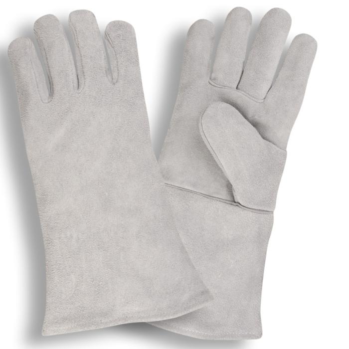 7605grey Leather Welder GlovesGREY LEATHER WELDER GLOVES