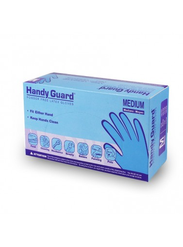HglF-Chandy Guard Powder Free Latexgloves X-Large3.8 MilHANDY GUARD POWDER FREE LATEX
