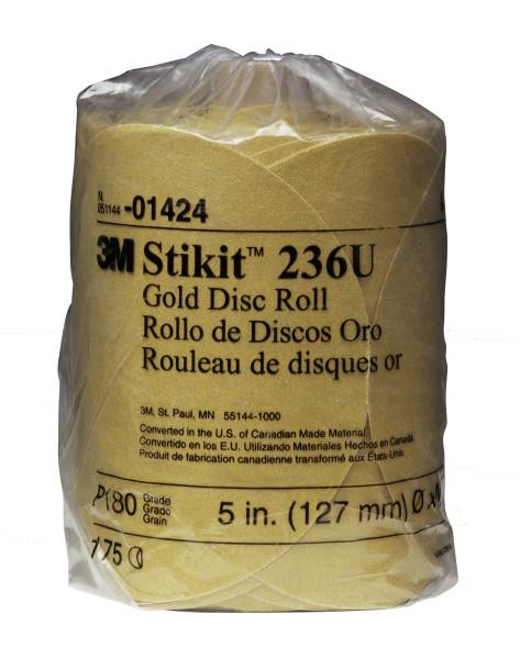 14393m 6x Nh 180a Stikit Gold Discroll175 Discs Per Roll3M 6X NH 180A STIKIT GOLD DISC