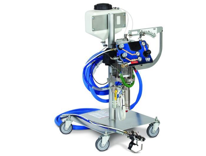16r005gel Coat System External Mix25 Ft Hoses, 17:1 Pump, CartGEL COAT SYSTEM EXTERNAL MIX