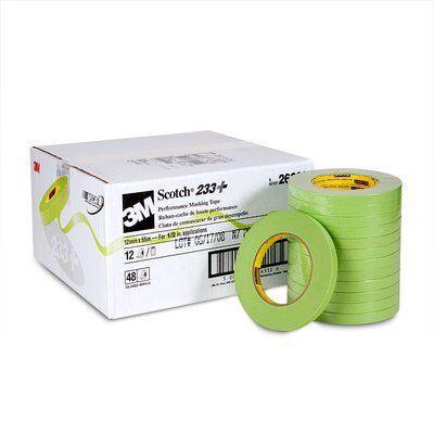 233-123m 233+ 12mm Green Tapemasking Tape3M 233+ 12MM GREEN TAPE