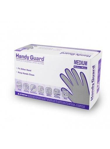 Hgpshandy Guard Latex Gloves (p)size Small; Powdered Latex3.8 MilHANDY GUARD LATEX GLOVES (P)