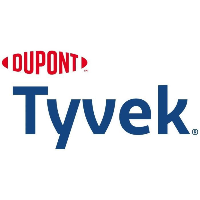 DUPONT TYVEK For almost 50 years, DuPont Tyvek® has provided the protective barrier people need to worry less, so they can focus on accomplishing bigger things. Tyvek® is a family of tough, durable spunbonded olefin sheet products that are stronger than paper and more cost-effective and versatile than fabrics.