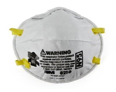 031933m 8210d20-Dc Drywall N953m Particulate Respirator 8210n9 Disposable Face Mask20 Each Pack, 4 Per Case3M Performance Drywall Sanding Respirator N95 Particulate, 8210D20-DC, 20 eaches/pack, 4 packs/case