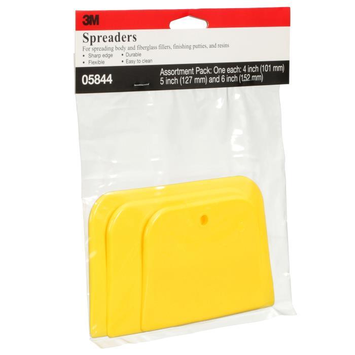 058443m Plastic Squeegee 3pkspreader Assortment 4in, 5in, 6in Per Pack24 Packs Per CasePLASTIC SQUEEGEE