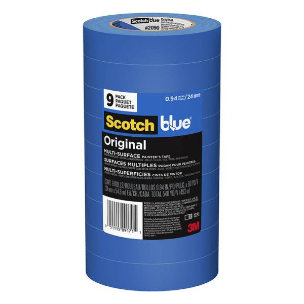 091683m Scotchblue Painters Tapeoriginal Painter's Tape2090-48tp66 Rolls/pack, 24 Rolls/case1.88 In X 60 Yd3M BLUE PAINTERS TAPE