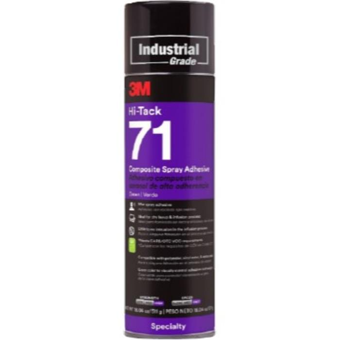 143293m 71 Spray Adhesive Green HI-Tackcomposite Spray Adhesive24 Fl Oz Can12 Per Case3M 71 SPRAY ADHESIVE GREEN