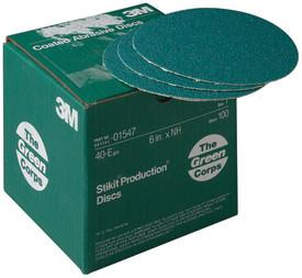 "15473m 6x Nh 40e Stikit Discgreen Corps Stikitproduction Disc 6"", 40 Grit100 Discs Per Carton5 Cartons Per Case3M Green Corps Stikit Production Disc, 01547, 6 in, 40 grit, 100 discs per carton, 5 cartons per case"