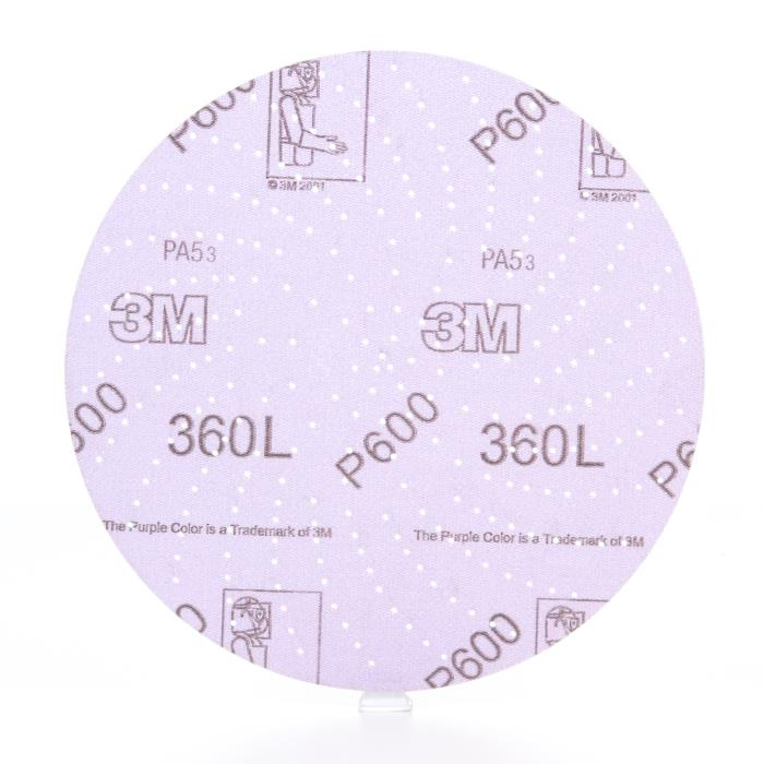 208043m 6in Hookit 600 Grit Clean Sanding Disc 360l, 20806in P600100 Per Box, 500 Per Case3M Hookit Clean Sanding Disc 360L, 20804, 6 in P600, 100 per inner 500 per case