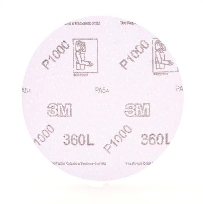 208063m 6in Hookit 1000 Gritclean Sanding Disc 360l, 20806100 Per Box, 500 Per Case3M Hookit Clean Sanding Disc 360L, 20806, 6 in P1000, 100 per inner 500 per case