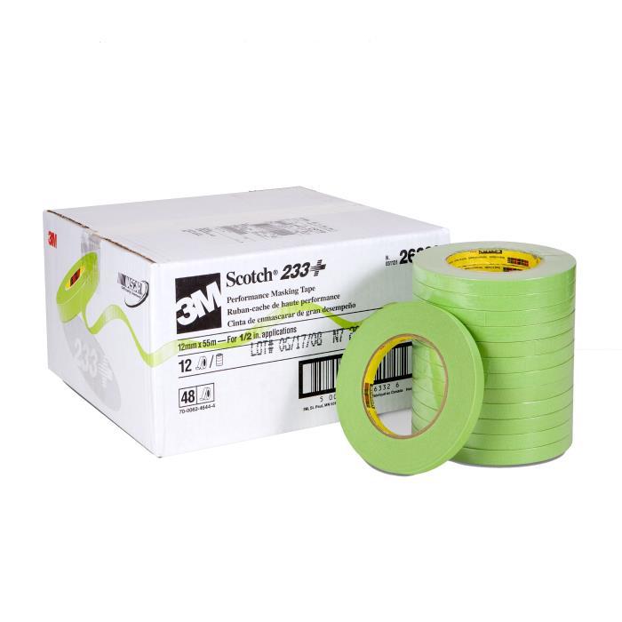 233-123m 233  12mm Green Tapescotch Masking Tapetape 233+, 2633212 Mm X 55 M48 Per Case3M 233+ 12MM GREEN TAPE