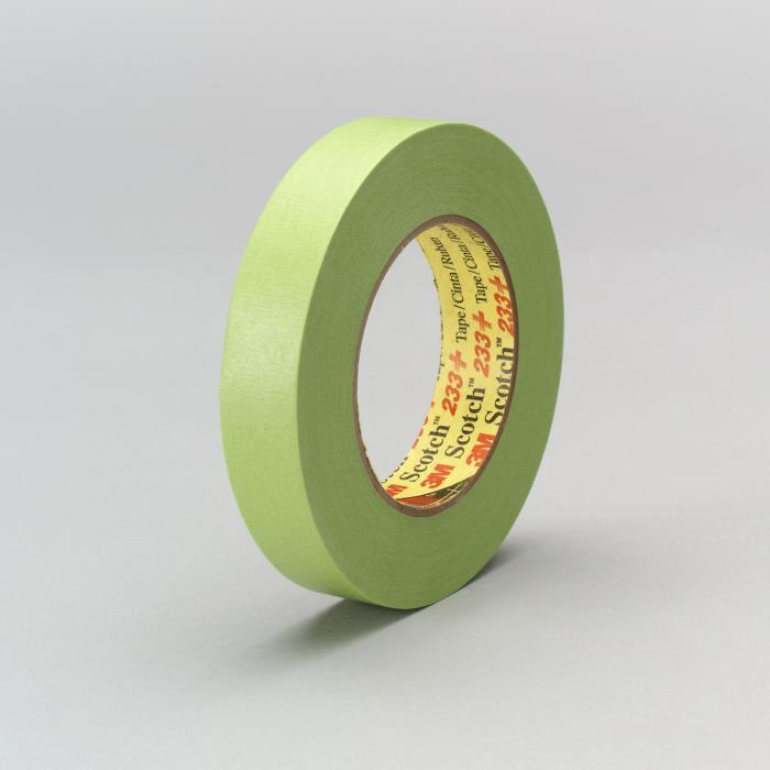 233-183m 233 18mm Green Tapemasking Tape 233+, 46334 18 Mm X 55 M48 Per Case3M 233+ 18MM GREEN TAPE