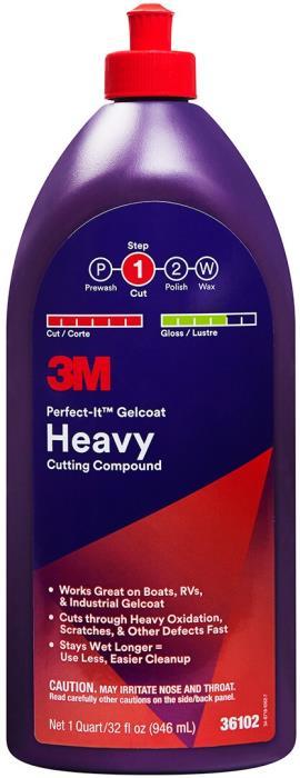 361023m PerfecT-It Gelcoat Heavyheavy Cutting Compound1 Quart (946 Ml)6 Per Case3M PERFECT IT GELCOAT HEAVY