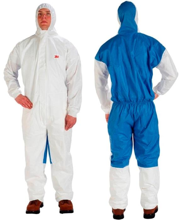 401993m Coverall 4535 Largewhite/blue20 Per Case3M COVERALL 4535 LARGE