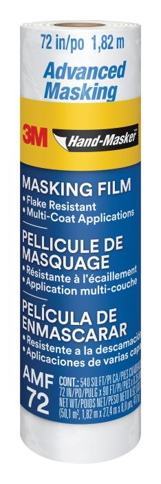 900393m Advanced Hand Masking Film72 In X 90 Ft3M Hand-Masker Advanced Masking Film, AMF72, 72 in x 90 ft x .35 mil (1.82 m x 27.4 m x .00889 mm)