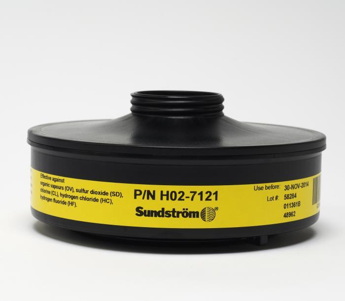 H027121sr 532 Chemical Cartridgeprotection Againstorganic Vapor, Sulfur Dioxidechlorine, Hydrogen Chloride/fhs Code 8421990080SR 532 CHEMICAL CARTRIDGE