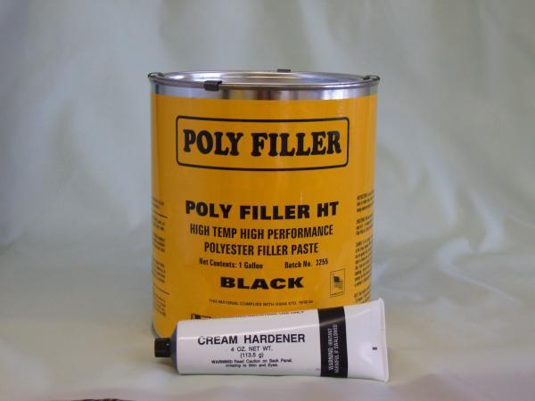 Htblackhi Temp Black Polyester FillerHI TEMP BLACK POLYESTER FILLER